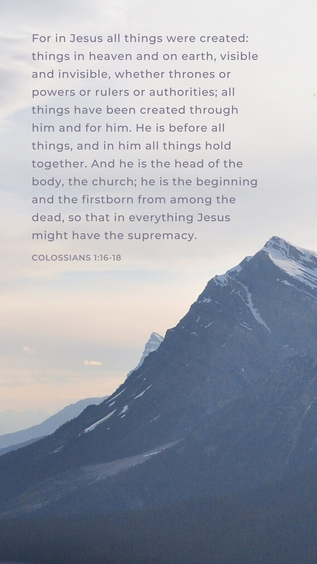Colossians 1:16-18 phone background