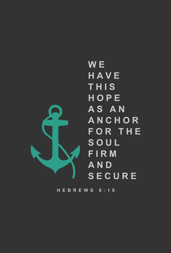 Hebrews 6:19 image of anchor