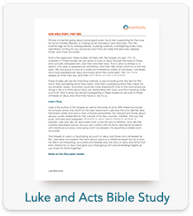 Luke and Acts Bible Study