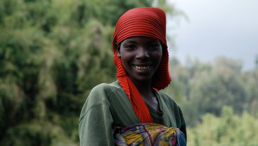 Beautiful Rwandan woman