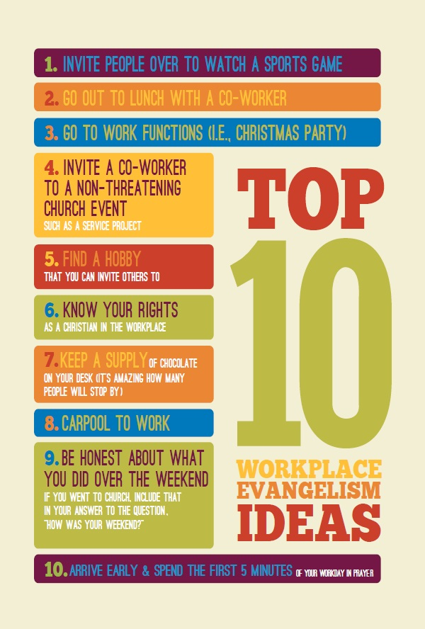 top 10 evangelism ideas for the workplace