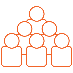 Orange Large Group Icon