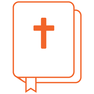 Orange Scripture Icon