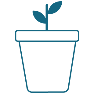 Blue Planting Icon