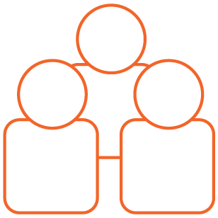Orange Small Group Icon